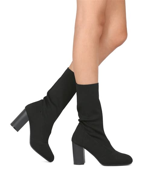 sock boots mid calf new indulge i knitted fabric mid calf block