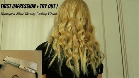 Remington Shine Therapy Wand impression try out remington shine therapy curling