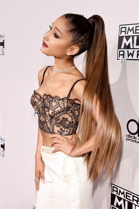 how long is ariana grande hair ariana grande hair and makeup at 2016 american music