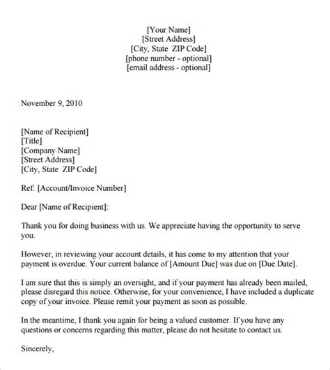 Letter For Rent Past Due Past Due Letter 8 Documents In Pdf