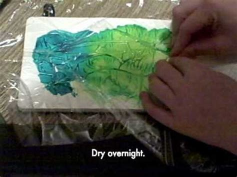 tutorial tuesday creating painted texture with saran wrap the one minute muse art journal technique saran wrap