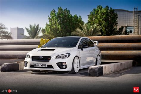 subaru cars white subaru sti cars sedan white vossen wheels wallpaper