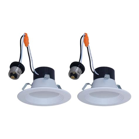 utilitech ventilation fan with led light installation shop utilitech 2 pack 50 watt equivalent white dimmable