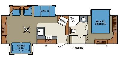 durango 5th wheel floor plans 2012 durango fifth wheel series m 315 re specs and standard equipment nadaguides