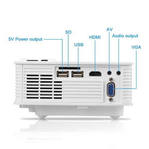 Home Theater Multimedia Visilux 7000lms led projector 3d 1080p hd multimedia hdmi usb sd av home theater cinema ebay