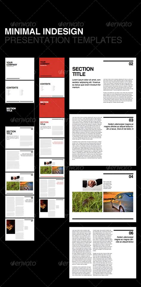 Indesign Presentation Templates swiss minimal presentation template graphicriver