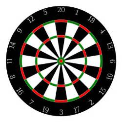 Standard Beer Pong Table Size Dartboard Recreation Games Darts Dartboard Png Html