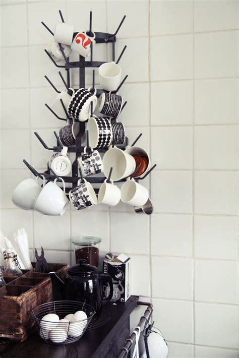 wall mounted coffee mug tree   Coffee bar ideas   Pinterest