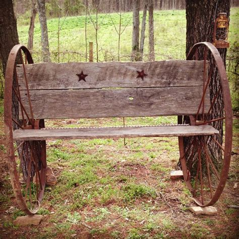 barn wood bench homemade antique bench out of wagon wheels and barn wood