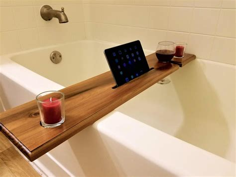 Stand Badewannen by Wine Glass Holder And Book Stand Notch Bath Caddy