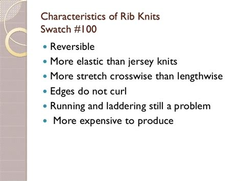 characteristics of knitted fabrics knitted fabrics and their properties
