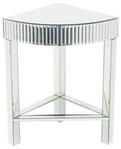 mirrored corner table wayborn pine wood beveled mirror corner table
