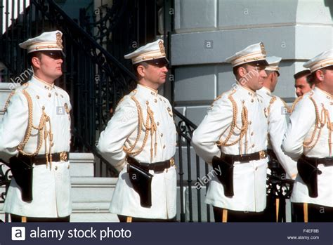 uniform house the uniforms of the white house police worn at an arrival ceremony stock photo