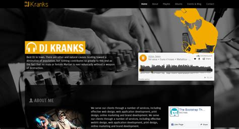 templates bootstrap free music 20 top notch html and bootstrap music website templates