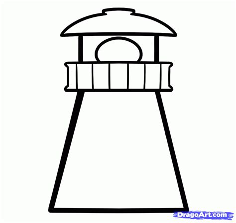 how to draw a house easy drawing step by step tutorials how to draw a lighthouse easy step by step buildings