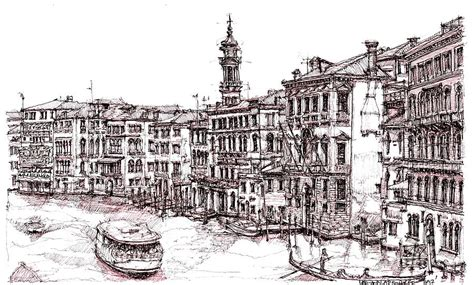 Delightful Best Place To Order Christmas Photo Cards #7: Venice-in-pen-and-ink-lee-ann-adendorff.jpg