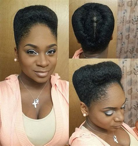 french roll bun w stuffing on fine natural hair easy 50 updo hairstyles for black women ranging from elegant to