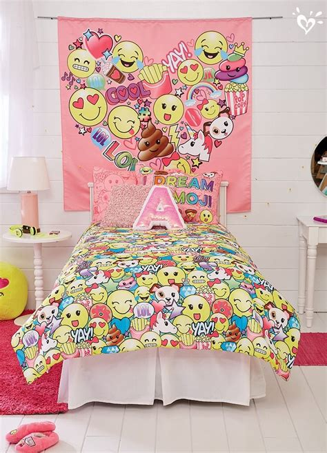 Bed Emoji by All Emoji Blanket Pillow Sham Wall Tapestry And