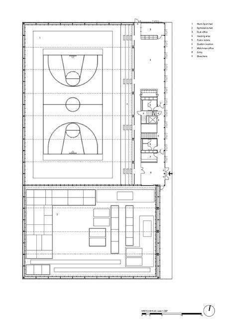 gymnasium floor plan gallery of hacine cherifi gymnasium tectoniques