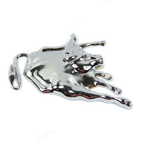 Aufkleber Entfernen Auf Metall by 3d Silver Chrome Metall Stier Emblem Selbst Lkw Aufkleber