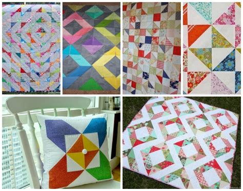 Half Triangle Quilt Patterns by 25 Half Square Triangles Free Quilting Patterns
