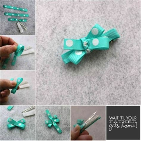 Make A Bow Out Of Paper - hair bow tutorial