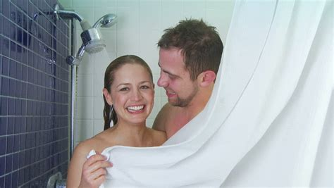 And Shower Together by Showering Together Stock Footage