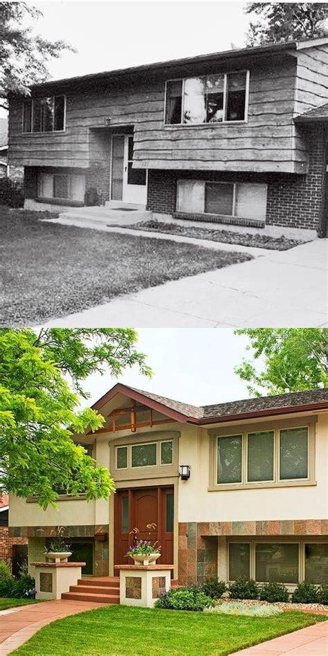 split level entry split level homes before and after before after