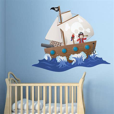 pirate ship wall stickers children s pirate ship wall sticker by oakdene designs notonthehighstreet