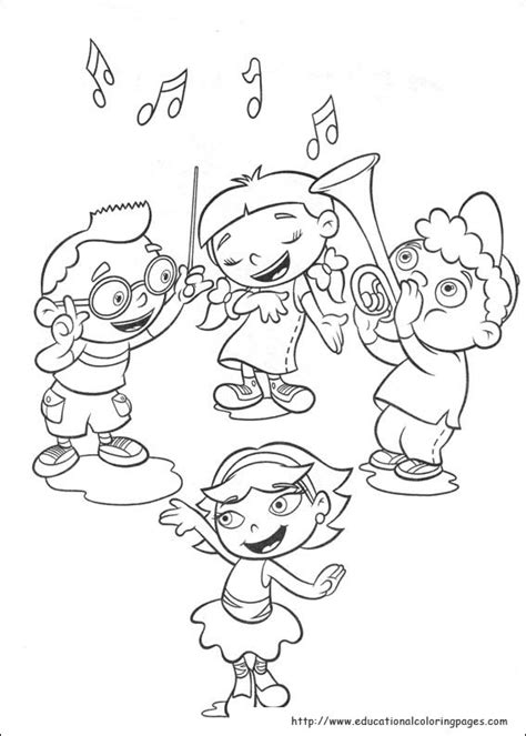 little einsteins coloring pages educational fun kids