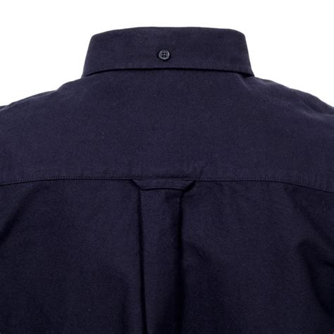 Dress Collar Oxford Navy Mocca navy cotton mens oxford shirt by fred perry clothing