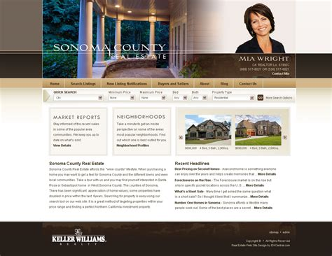 wordpress real estate template sonoma agent broker