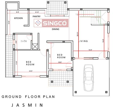 Plan For House by Jasmin Plan Singco Engineering Dafodil Model House