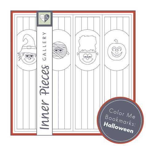 printable halloween bookmarks to color printable halloween bookmarks inner pieces gallery