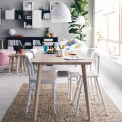 Ikea Dining Room Furniture dining area with a dining table in ash veneer and four white dining