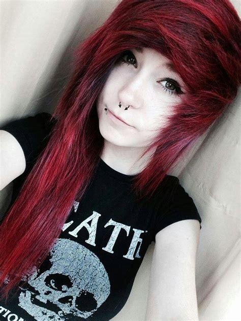 short emo hairstyles pinterest red emo scene hair inspira 231 227 o cabelos pinterest