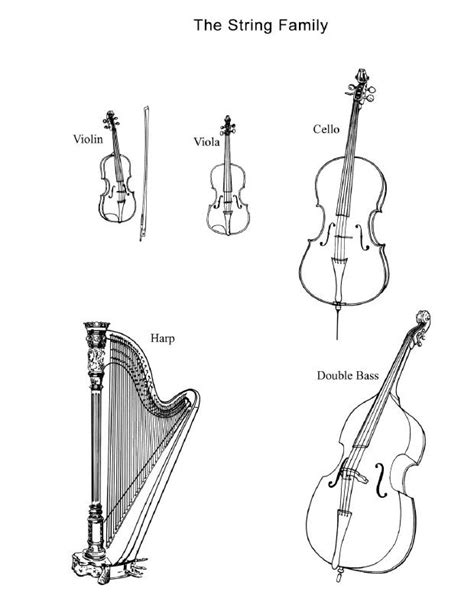 coloring pages of string instruments 17 best images about band instrument education on