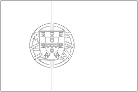 Portugal Flag Page Coloring Pages Portugal Flag Coloring Page