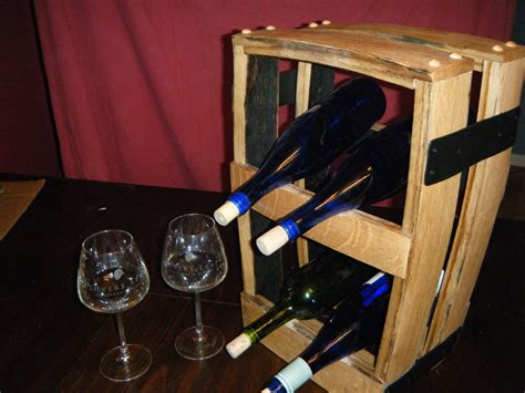 Small Tabletop Wine Rack by Small Table Top Wine Rack Bourbon Barrel Rehab