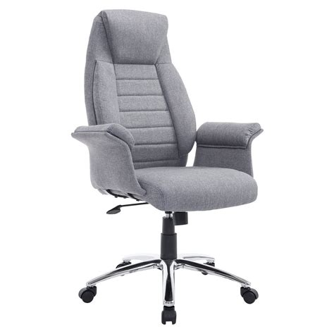 common office chair adjustments homcom high back fabric executive office chair home