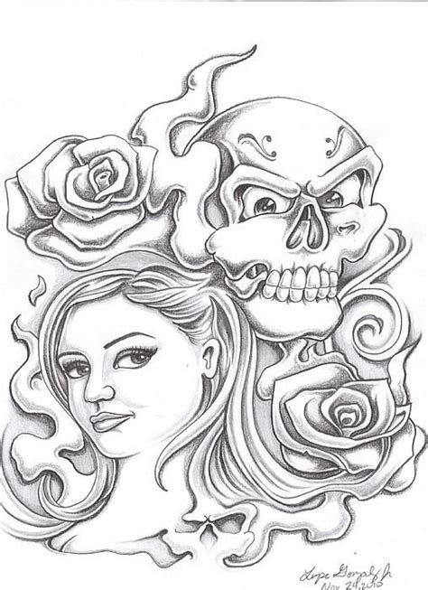 coloring pages of hearts and skulls image gallery hearts skulls and roses