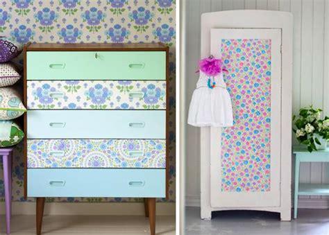 decorar muebles viejos con papel recicla muebles viejos paperblog
