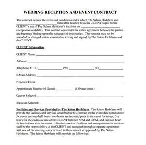 wedding contract template wedding contract template 18 free documents