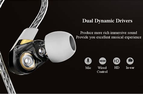Remax Earphone Rm 580 Hitam dual dynamic drivers remax rm 580 in ear 3 5mm wire