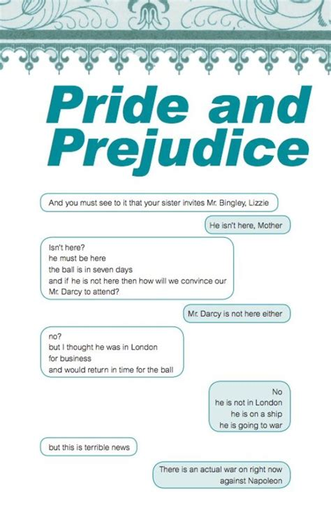 literary themes in pride and prejudice if the characters of pride and prejudice could text
