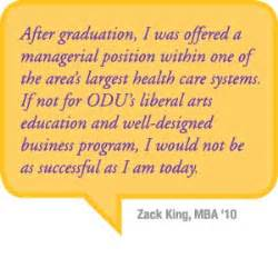 Odu Mba Program by Earn Your Mba On Cus Or A Combination Of Both
