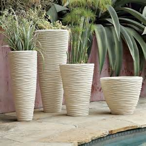 Planters And Pots by Textured Stone Planters Modern Indoor Pots And