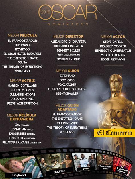 lista imprimible de los nominados al oscar 2015 esta es la oscar 2015 la lista completa de los nominados fotos depor