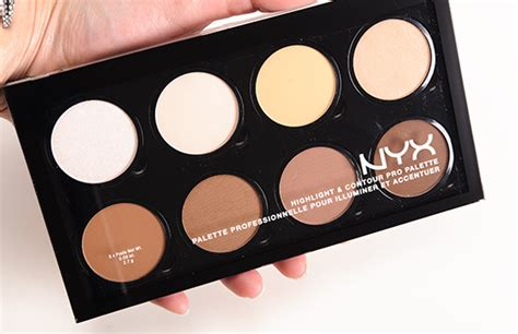 nyx highlight contour palette review photos swatches