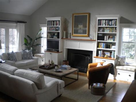 Benjamin Moore Revere Pewter Living Room | revere pewter transitional living room benjamin